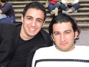 Peppe Bellocco con un suo amico