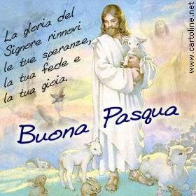 Immagine di buona Pasqua 2006 inviata dalla nostra lettrice Montagna Lauro