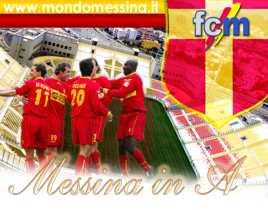 Foto della promozione in A del Messina inviata dal nostro lettore Giuseppe Luciano