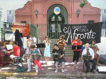 Musicisti di strada a Plaza Dorrego, San Telmo - Buenos Aires