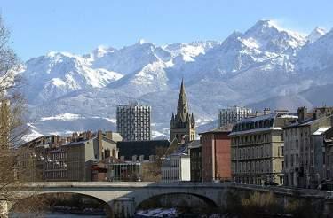 Dall'Isère, vista sul Belledonne (Foto di Guerino De Masi)