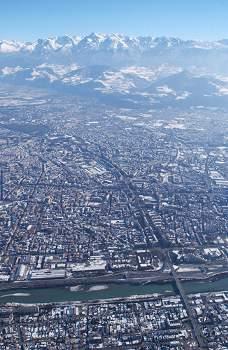 Vista aerea dal Vercors (Foto di Guerino De Masi)