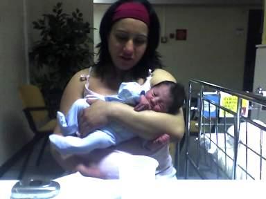 Mattia Cirillo con la madre