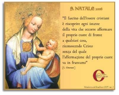 Buon Natale 2006 - Cartolina augurale inviata da Romualdo Lucà