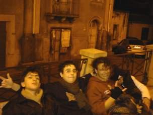 Tore Marazzita (primo da destra) e i suoi amici