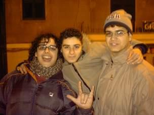 Tore Marazzita (primo da destra col berretto) e i suoi amici